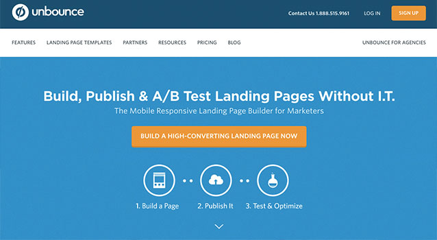 Unbounce-SaaS-landing-page