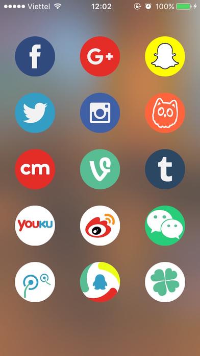 social sign icon screenshot